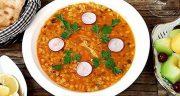 طرز تهیه سوپ جو قرمز خوشمزه و مجلسی به روش رستورانی در خانه