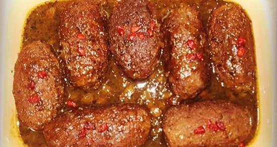 طرز تهیه هلو کباب کردی کاشانی با رب انار , کوفته کرمانشاهی هلو کباب , holoo kabab , ig fhf
