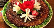 طرز تهیه کوکو بادمجان شیرازی مجلسی به دو روش تابه ای و فر