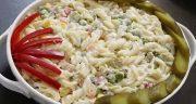 طرز تهیه سالاد ماکارونی ساده خوشمزه و مجلسی به روش رستورانی