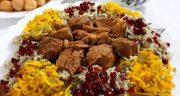 طرز تهیه چلو گوشت اصل مجلسی و خوشمزه مخصوص زعفرانی