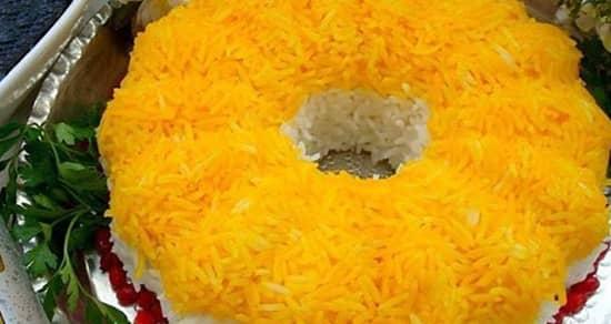 طرز تهیه برنج زعفرانی مجلسی و خوشمزه به همراه فوت و فن های آن