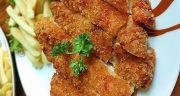 طرز تهیه شنیسل مرغ سوخاری خوشمزه و رستورانی در خانه