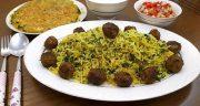 طرز تهیه کلم پلو رستورانی خوشمزه و مجلسی به سبک شیرازی
