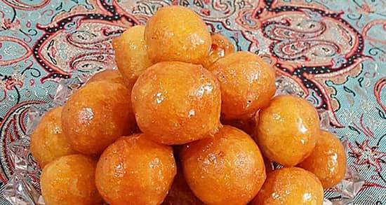 طرز تهیه شیرینی لگیمات فوری خوشمزه و ترد بوشهری و عربی