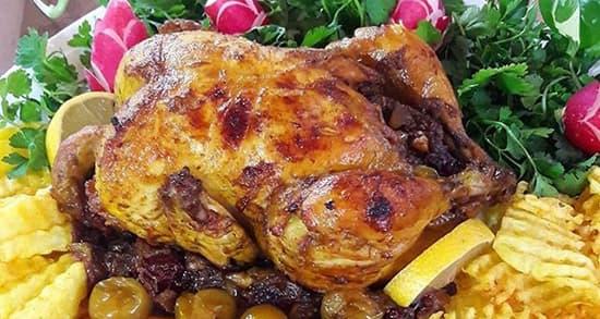 طرز تهیه مرغ شکم پر بدون فر , دستور پخت مرغ شکم پر خاور خانم , xvc jidi lvy a l v