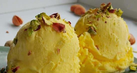طرز تهیه بستنی سنتی خانگی خوشمزه و مخصوص زعفرانی در منزل
