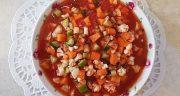 طرز تهیه ترشی سالاد فصل زمستانی خانگی و خوشمزه با گوجه فرنگی