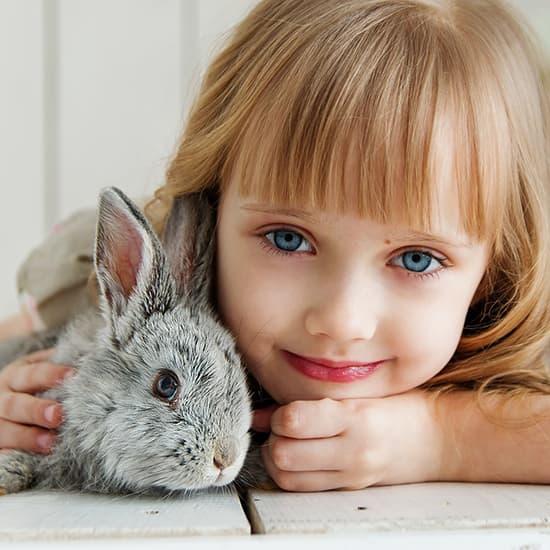عکس پروفایل کودکانه , عکس پروفایل بچه , عکس پروفایل دختر بچه و خرگوش