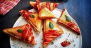 طرز تهیه اسنک مرغ و قارچ پنیری خوشمزه و مخصوص با ساندویچ ساز