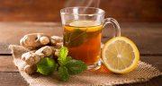 طرز تهیه چای زنجبیل تازه با لیمو و عسل برای لاغری و سوزاندن چربی