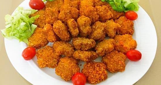 طرز تهیه ناگت مرغ خانگی خوشمزه و مجلسی به صورت سوخاری