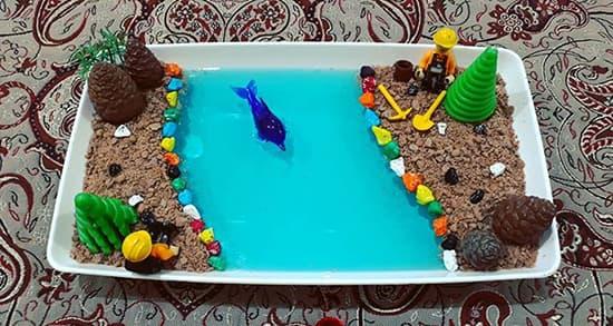طرز تهیه ژله دریا , دستور درست کردن ژله دریاچه با شن , طرز تهیه ژله دریایی