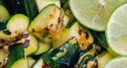 غذای گیاهی خوشمزه: طرز تهیه کدوسبز گریل شده به همراه ریحان و لیمو