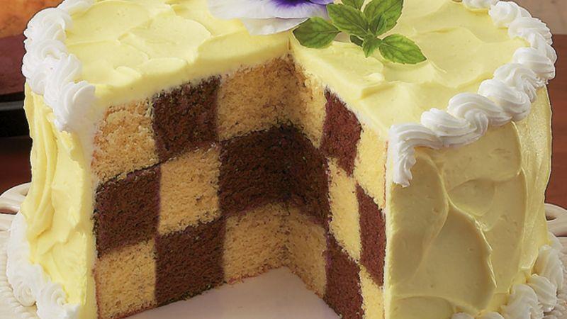 طرز تهیه کیک شطرنجی شکلاتی شیک و مجلسی