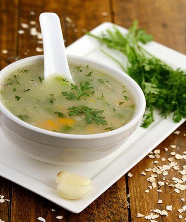 سوپ سیر و سبزیجات