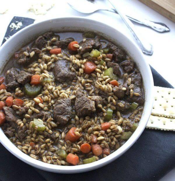 سوپ گوشت گاو-جو