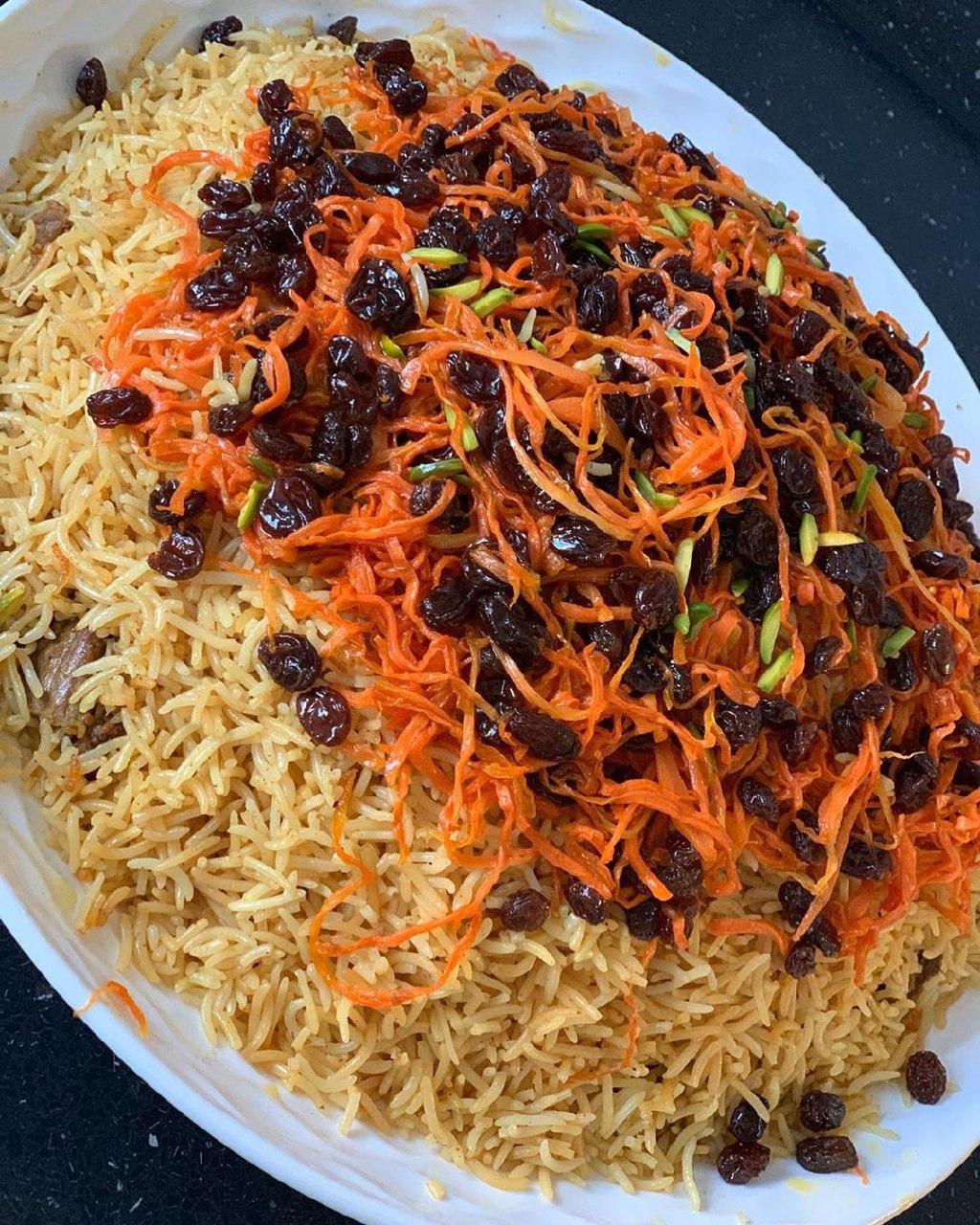 دستور پخت قابلی پلو افغانی