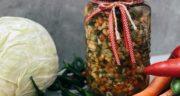 طرز تهیه ترشی مخلوط پخته شده، خوشمزه و فوری به روش بازاری