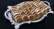 طرز تهیه رول حلوای مجلسی و خوشمزه با نان میکادو و آرد برنج