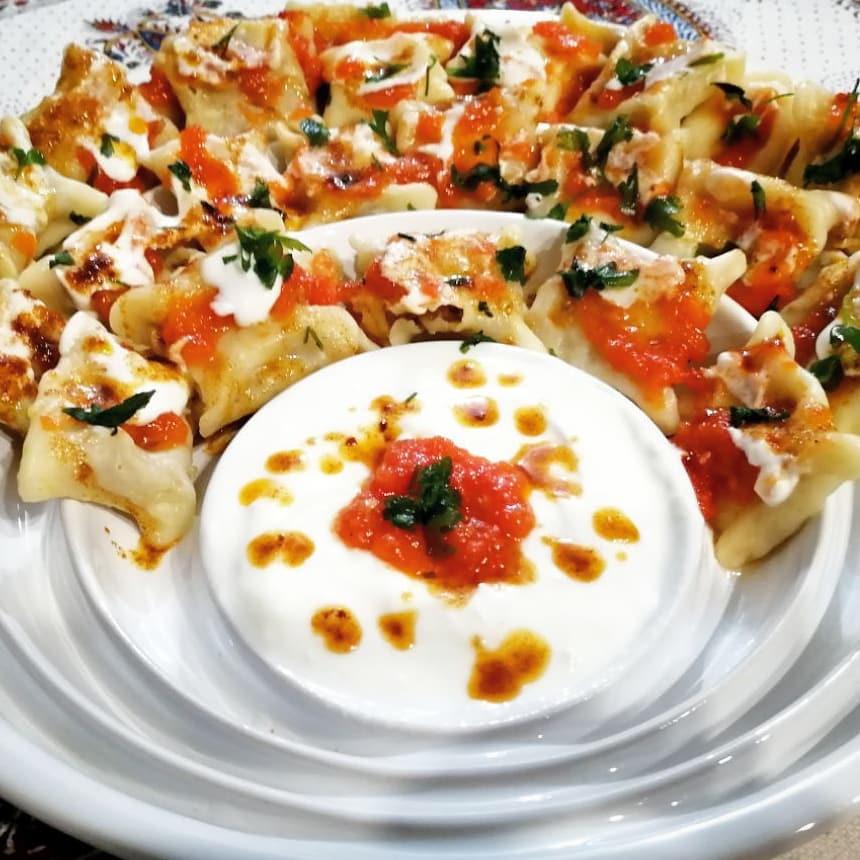 طرز تهیه مانتی ترکیه ای ساده و خوش طعم به صورت آبپز