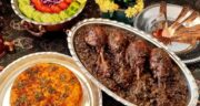 طرز تهیه مرغ ترش مازندرانی با رب انار و گردو به روش رستورانی