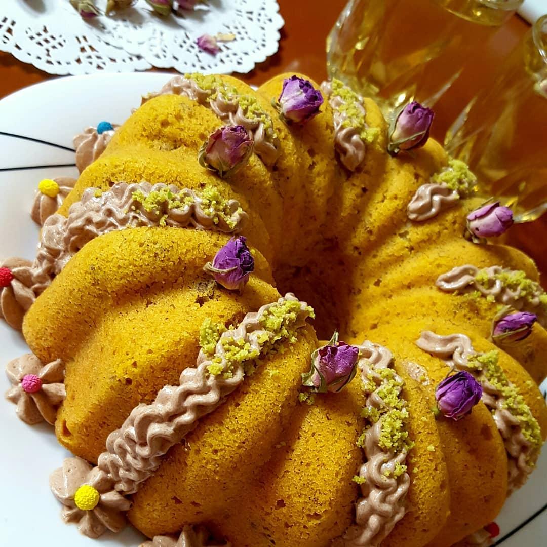طرز تهیه کیک کدو حلواییساده و خوشمزه و پف دار همراه با نکات پخت