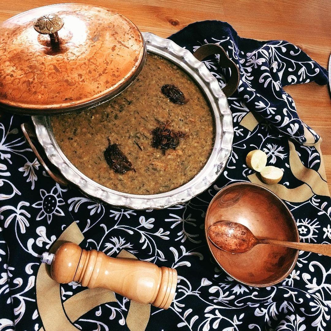 طرز تهیه آش شوربا خوشمزه با لپه و ماش و گوشت قلقلی برای سرماخوردگی