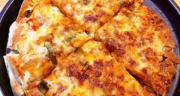 طرز تهیه پیتزا مرغ تابه ای ساده و خوشمزه همراه با آموزش خمیر پیتزا