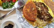 طرز تهیه باسترما پلو اردبیلی خوشمزه با گوشت اردک به روش رستورانی