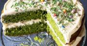 طرز تهیه کیک اسفناج خوشمزه و سالم و خوش رنگ مرحله به مرحله