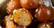 طرز تهیه دسر گلاب جامون هندی خوشمزه و لذیذ و شیرین