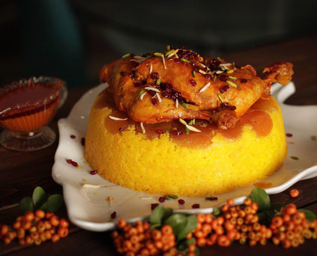 طرز تهیه قیسی پلو اردبیلی خوشمزه و مجلسی با مرغ مرحله به مرحله