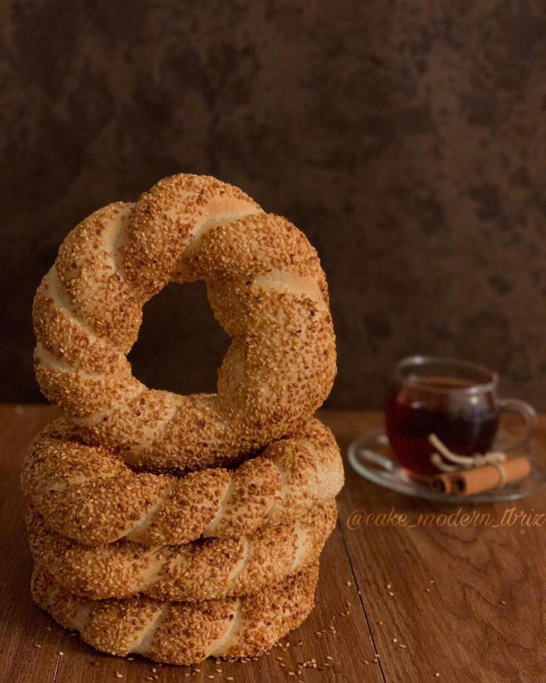 طرز تهیه سیمیت خوشمزه اصل ترکیه با شیره انگور مرحله به مرحله