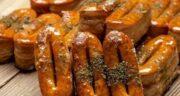 طرز تهیه شیرینی زبان خانگی خوشمزه با خمیر هزارلا به روش قنادی