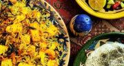طرز تهیه سیب پلو کرمانشاهی ساده و خوشمزه با شوید و فیله مرغ