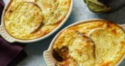 طرز تهیه سوفله بادمجان بدون گوشت خوشمزه و مجلسی با پنیر پارمزان
