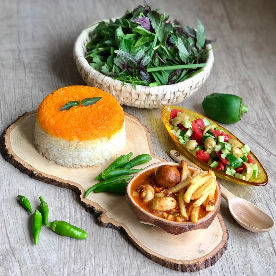 طرز تهیه خورش قیمه با قارچ بدون گوشت، خورش گیاهی و خوشمزه