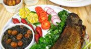 طرز تهیه ماهی شکم پر خوشمزه و مجلسی با رب انار مرحله به مرحله