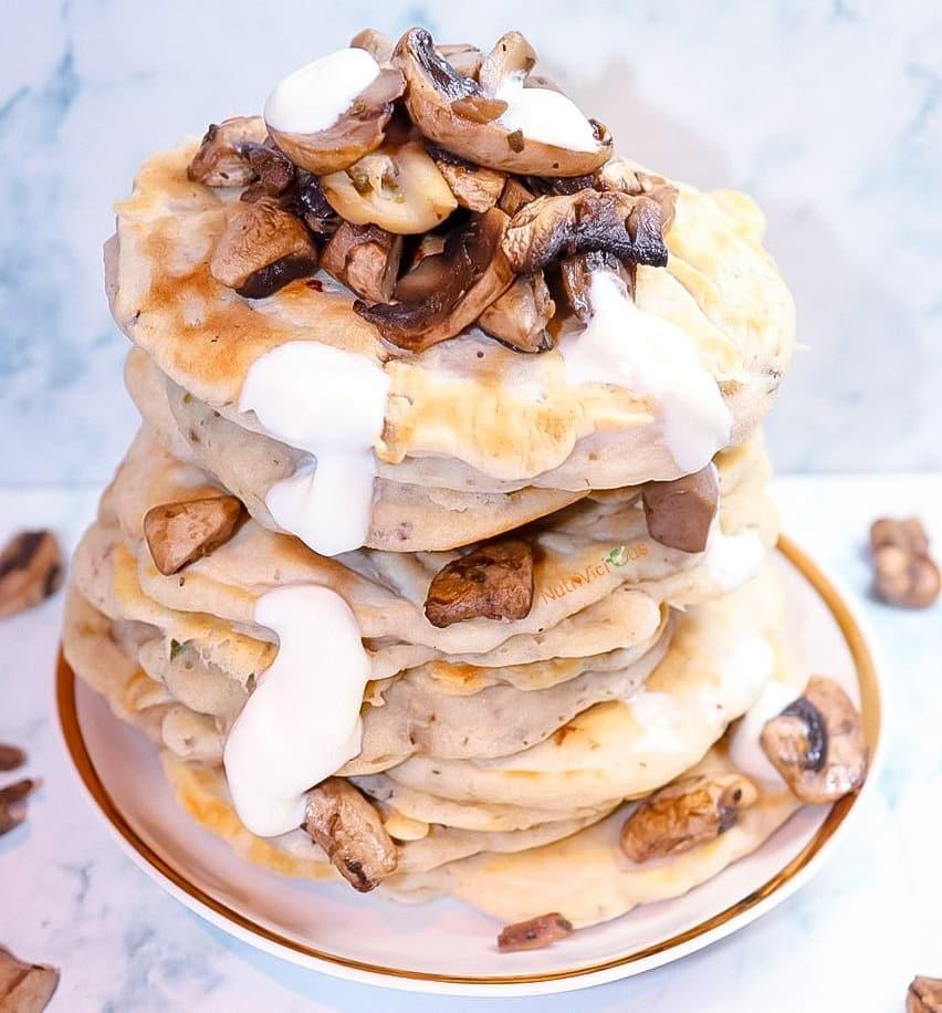 طرز تهیه پنکیک قارچ خوشمزه و مجلسی و متفاوت مرحله به مرحله
