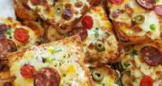 طرز تهیه پیتزا با نان تست و سوسیس سریع و خوشمزه در فر