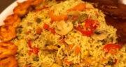 طرز تهیه پلو یونانی خوشمزه و آسان با فیله مرغ حلزونی مجلسی
