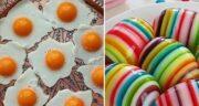 طرز تهیه ژله تخم مرغی نیمرو و ژله تخم مرغی رنگارنگ خوشرنگ