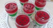 طرز تهیه پودینگ ژله ای هندوانه خوشمزه، ساده و سریع ویژه شب یلدا