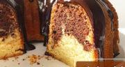 طرز تهیه کیک ماربل وانیلی شکلاتی خوشمزه مرحله به مرحله