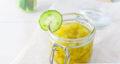 طرز تهیه مربای خیار خوشمزه به شکل گل یا رنده شده با آهک