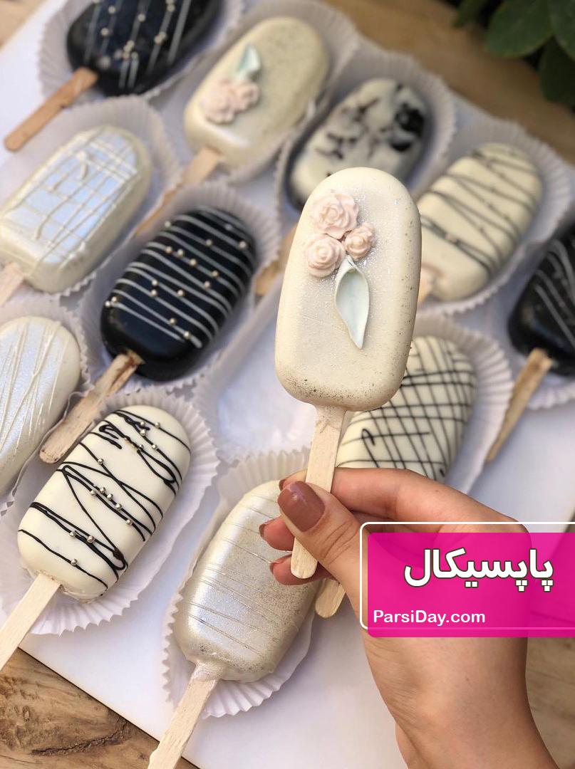 طرز تهیه پاپسیکل یا پاپسیکلز شکلاتی با قالب مناسب برای ولنتاین
