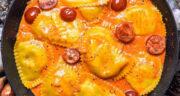 طرز تهیه راویولی گوشت و اسفناج ایتالیایی خوشمزه با خمیر مخصوص
