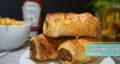 طرز تهیه رولت سوسیس و قارچ و پنیر همراه با خمیر مخصوص