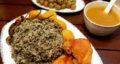 طرز تهیه سبزی پلو مجلسی با مرغ سرخ شده خوشمزه مرحله به مرحله